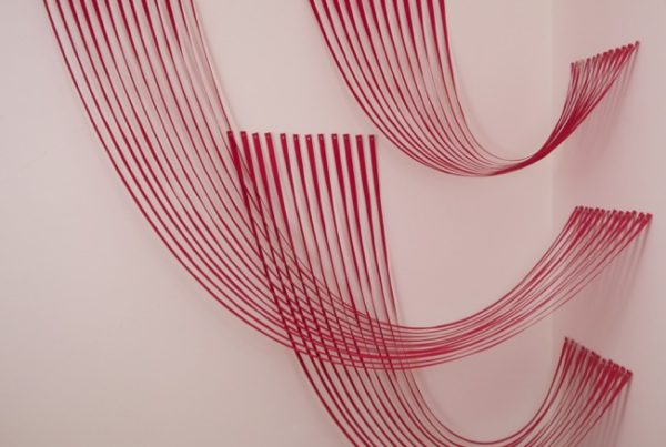 Sabine Reckewell, Variant Curves (Red), 2019, Roll Up Project